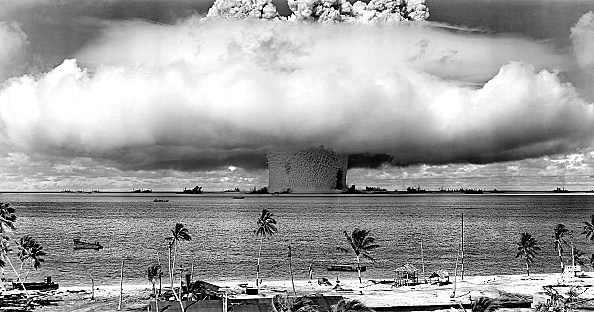 United States detonating an atomic bomb