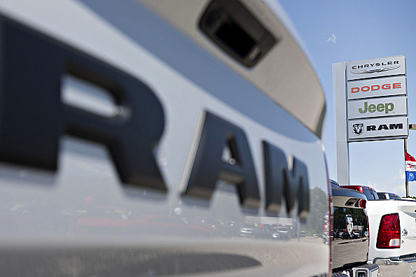 A Fiat Chrysler Car Dealership As Total Vehicle Sales Figures Are Released