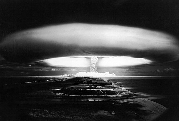 A Nuclear Explosion At Mururoa In France On October 30, 1971 -